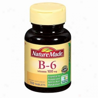 Natu5e Made Vitamin B-6, 100mg, Tablets