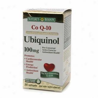 Nature's Bounty Coq10 Advanced Active Form Ubiquinol 100 Mg, Softgels