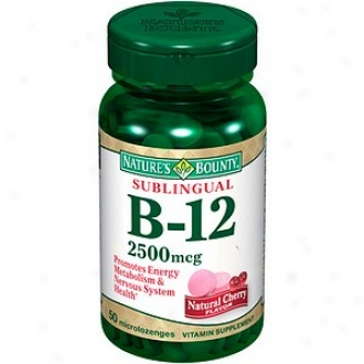 Nature's Bounty Natural B-12 Sublingual Vitamin 2500mcg, Tablets