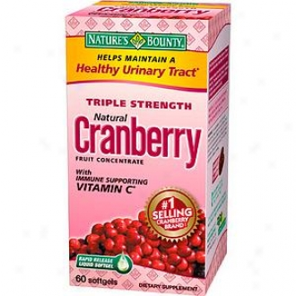 Nature's Bounty Triple Strength Original Cranberry Fruit Concentrate Softgels