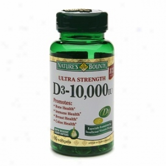Nature's Bounty Ultra Strength Vitamin D-3 10,000 Iu, Softgels