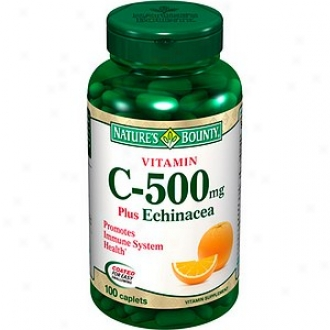 Nature's Bounty Vitamin C-500 Plus Echinacea With Rose Hips, Tablets