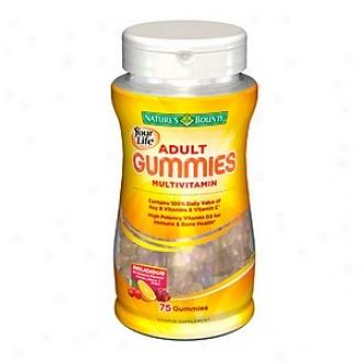 Nature's Bounty Your Life Multi Adult Gummies Multivitamin, Orange, Cherry & Grape