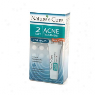 Natures Cure Two-part Acne Treatment System For Males