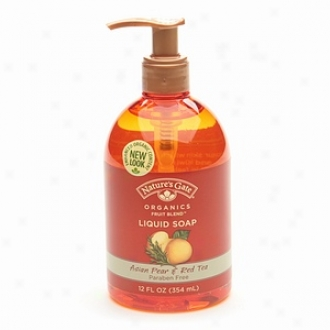 Nature's Gate Organics Fruit Blends Liquid Hand Soap, Asian Pearr & Red Tea