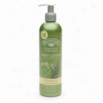 Nature's Gate Organics Organic Herbal Blends Body Lotion With Vitamins E, A D, Chamomile Lemon Verbana