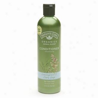 Nature's Gare Organics Radical Herbal Blends Volumizing Conditioner, Lemongrass & Clary Sage Fine Hair