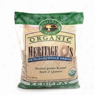 Nature's Path Organic Heritage O's Heirloom Whole Grains Cereal, Ancient Grains Kamut, Spelt & Quinoa