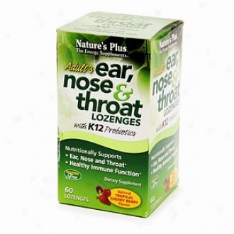Nature's Plus Adult's Ear, Noee & Throat Lozenges Dietary Supplement