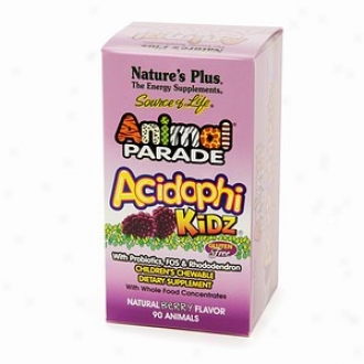 Nature's Plus Animal Parade Acidophikidz Children's Chewables, Berry
