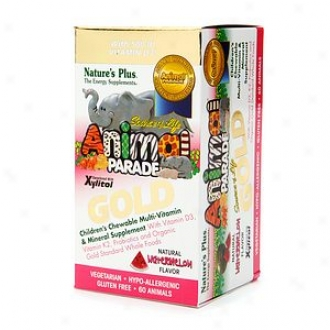 Nature's Plus Animal Parade Gold Children's Chewable Multi-vtiamin & Mineral, Watermelon
