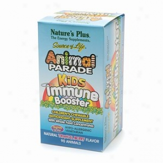 Nature's Plus Carnal Pageant Kids Immune Booster Chewables, Natural Tropical Berry Flavor
