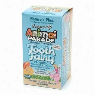 Nature's Plus Animal Parade Tooth Fairy Probiotif Children's Chewables, Natural Vanilla