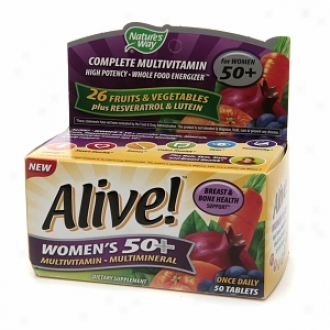 Nature's Way Alive! Once Diurnal Women's 50+ High Potencu Multivitamin