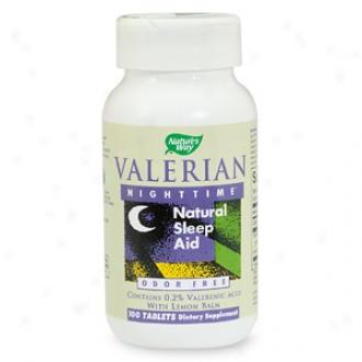 Nature's Way Valerian Nighttime, Natural Sleep Aid, Tablets
