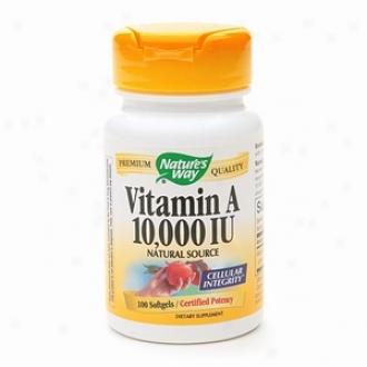 Nature's Way Vitamin A 10,000 Iu, Softgels