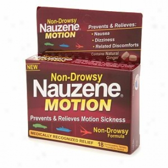 Nauzene Non-drowsy Naauzene Motion Tablets With Natural Ginger