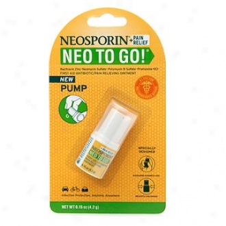 Neosporin Neo To Go! First Aid Antibiotic/pain Relieving Ointment Pump