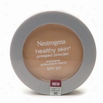 Neutrogena Healthy Skin Pressed Powder Compact Spf 20, Light To Medium 30