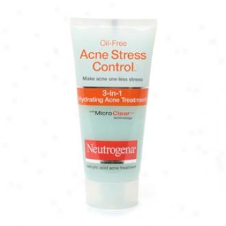 Neutrogena Oil-free Acne Stress Control, 3-in-1 Hydrating Acne Treatment