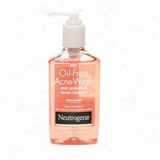 Neutrogena Oil-free Acne Wash Facia Cleanser, Pink Grapefruit