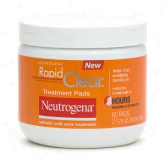 Neutrogena Rapid Clear Daily Treatment Pads Salicylic Acid Acne Treatment, Maximum Strength