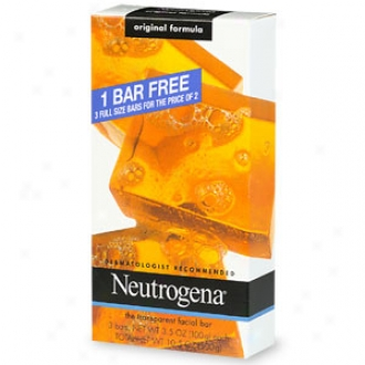 Neutrogena Transparent Facial Bar Bonus Pack, Original Formula