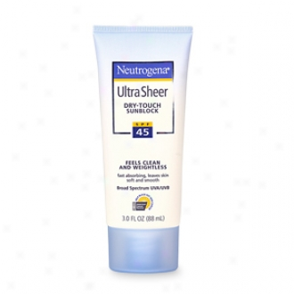 Neutrogena Ultra Sheer Dry-touch Sunblock, Spf 45