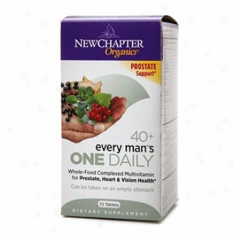 New Chatter Organics Every Man's One Daily 40+ Multivitamin, Tablets