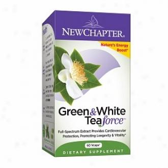 New Chapter Organics Green & White Tea Force, Capsules