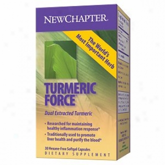New Chapter Turmeric Force, Hexane-free Softgel Capsules