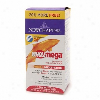 New Chapter Wholemega 1000mg Extr aVirgin Whole FishO il, Softgels