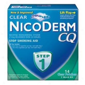 Nicodsrm Cq Smoking Cessation Aid, Clear Patch, Step 1