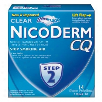Nicoderm Cq Smoking Cessation Aid, Cpear Patch, Step 2