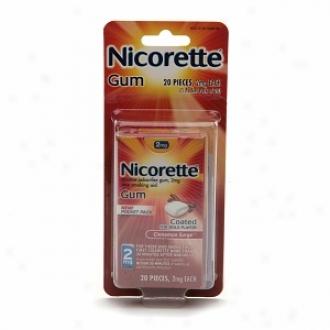 Nicorette 2 Mh Nicotine Gum Pocket Pack, Cinnamon Wave