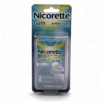 Nicorette 2 Mg Nicotine Gun Ppcket Pack, White Ice Mint