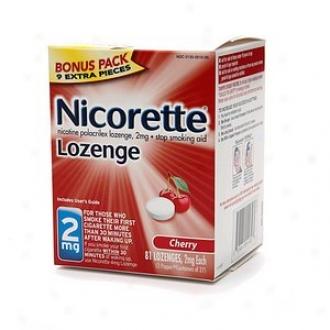 Nicorett e2 Mg Nicotine Lozenges Bonus Pack, Cherry