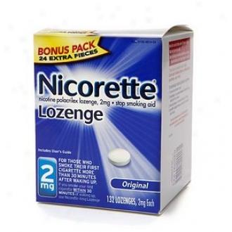 Nicorette 2 Mg Nicotine Lozenges Bonus Pack, Original