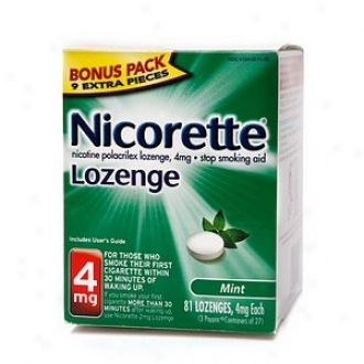 Nicorette 4 Mg Nicotine Lozenges Bonus Pack, Mint