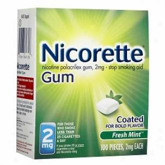 Nicorette Nicotine Gum 2mg, Fresh Mint