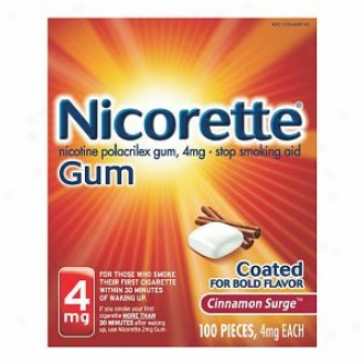 Nicorette Nicotine Gum 4mg, Cinamon Surge