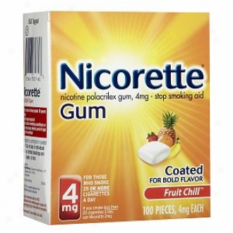 Nicorette Nicotine Gum 4mg, Fruit Chill