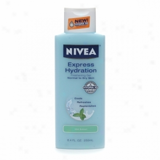 Nivea Express Hydrztion Freshening Gel, Normal To Dry Skin, Mint Extract