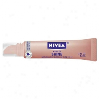 Nivea Lip Care A Kiss Of Shine, Spf 15, Natural Glossy Lip Care