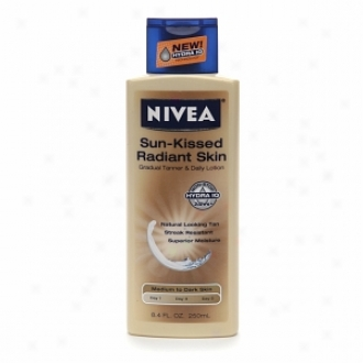 Nivea Sun-kissed Radiant Skin Slow Tan Moisturizer, For Medium To Dafk Skin