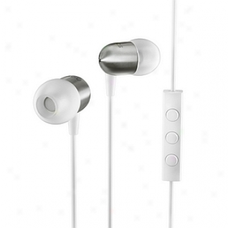 Nocs Ns400 Earphones With Remote And Mic Titanium, White