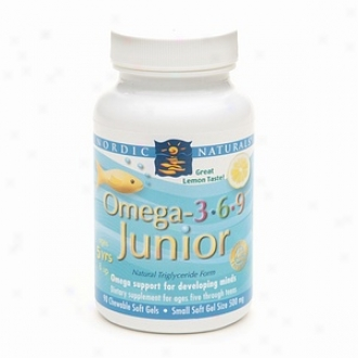 Nordic Naturals Omega - 3.6.9 Junior Chewable Dietary Supplement Soft Gels