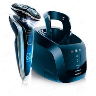 Norelco Sensotouch Electric Razor With Gyroflex 3d & Jet Clean, Model 1280xcc, Metallic