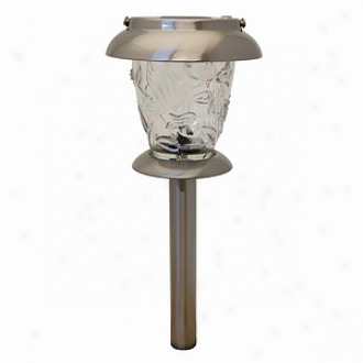 Northern International 2 Count Stainless Steel 2-in-1 Solar Lights Gl23730ss