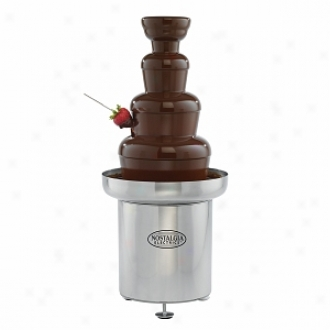 Nostalgia Elevtrics Cff-552 Commercial Stainless Steel Chocolate Fondue Fountain
